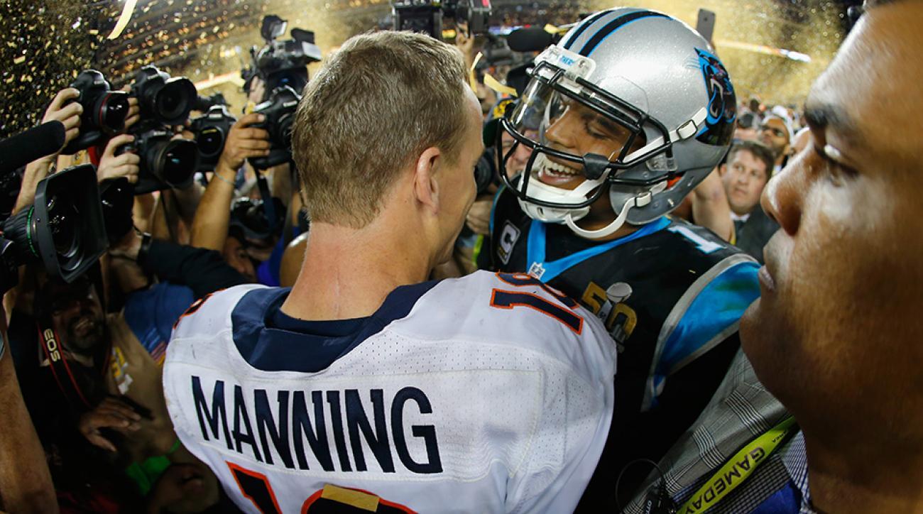 cam newton peyton manning super bowl 50 handshake
