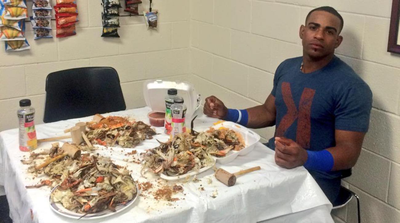 yoenis cespedes crabs baltimore orioles