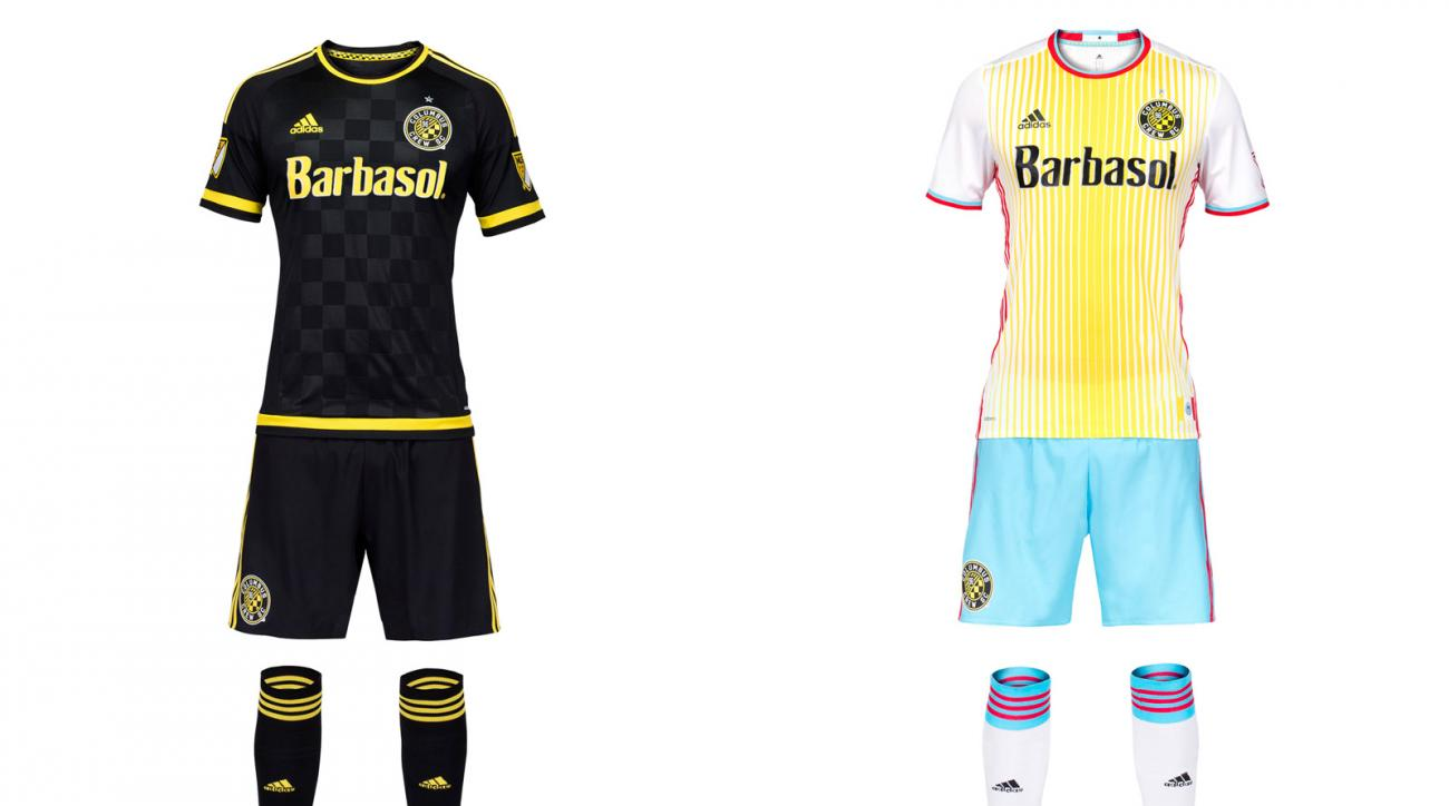 Columbus Crew SC 2016 uniforms