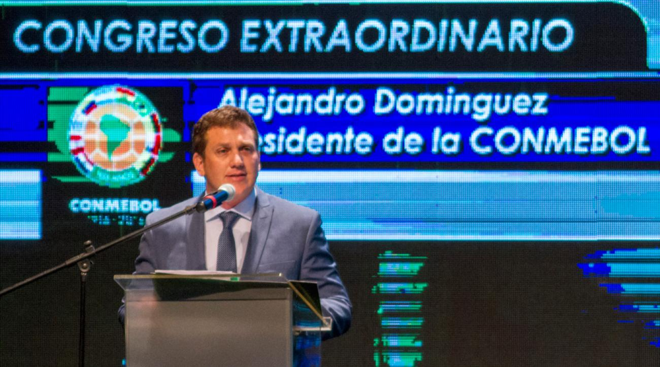 CONMEBOL's newly elected president, Alejandro Dominguez