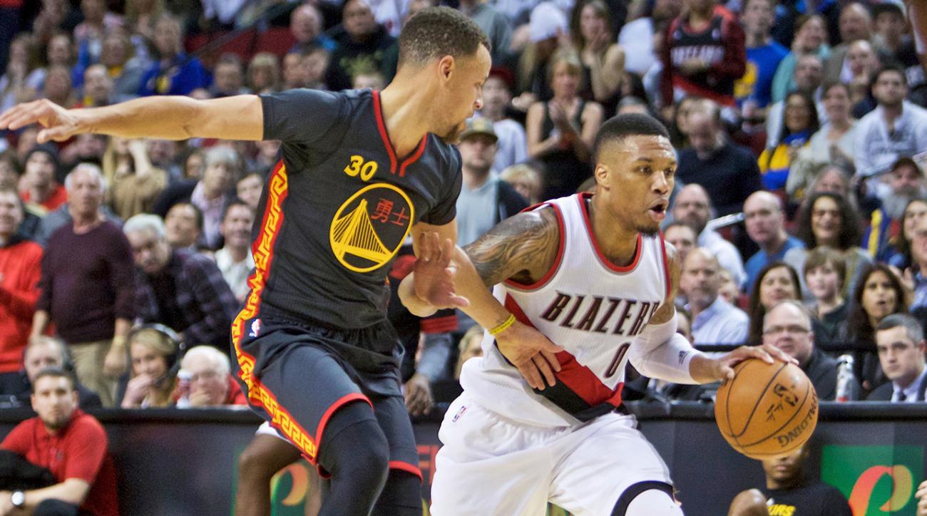 Damian Lillard 51 points Blazers Warriors