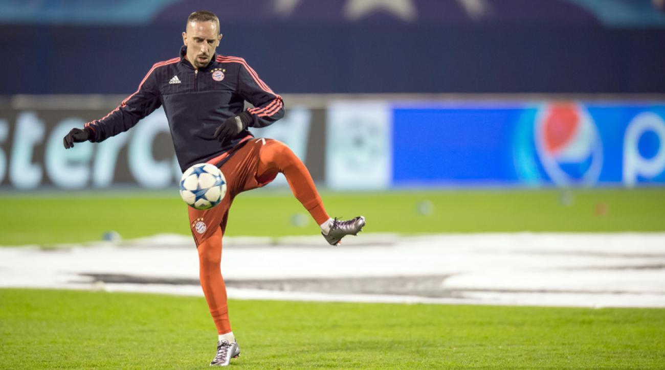 Franck Ribery returns to training for Bayern Munich