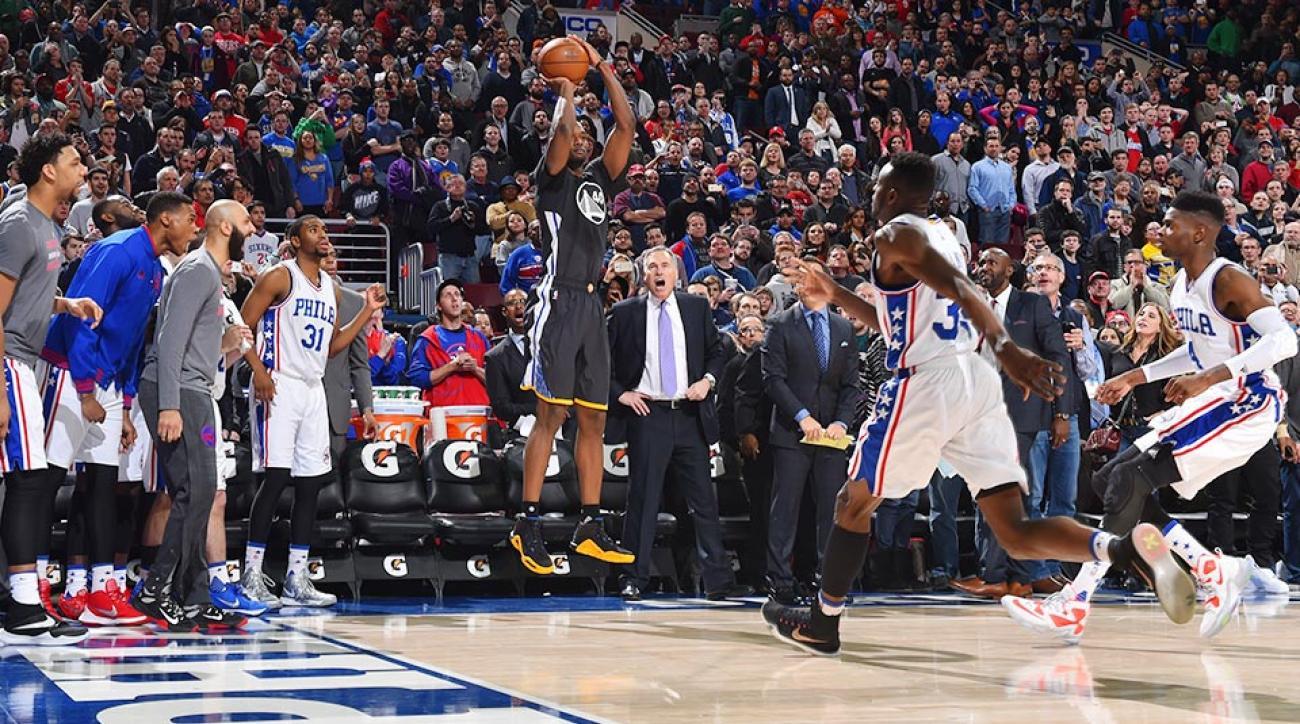 Golden State Warriors Philadelphia 76ers Harrison Barnes game winner video
