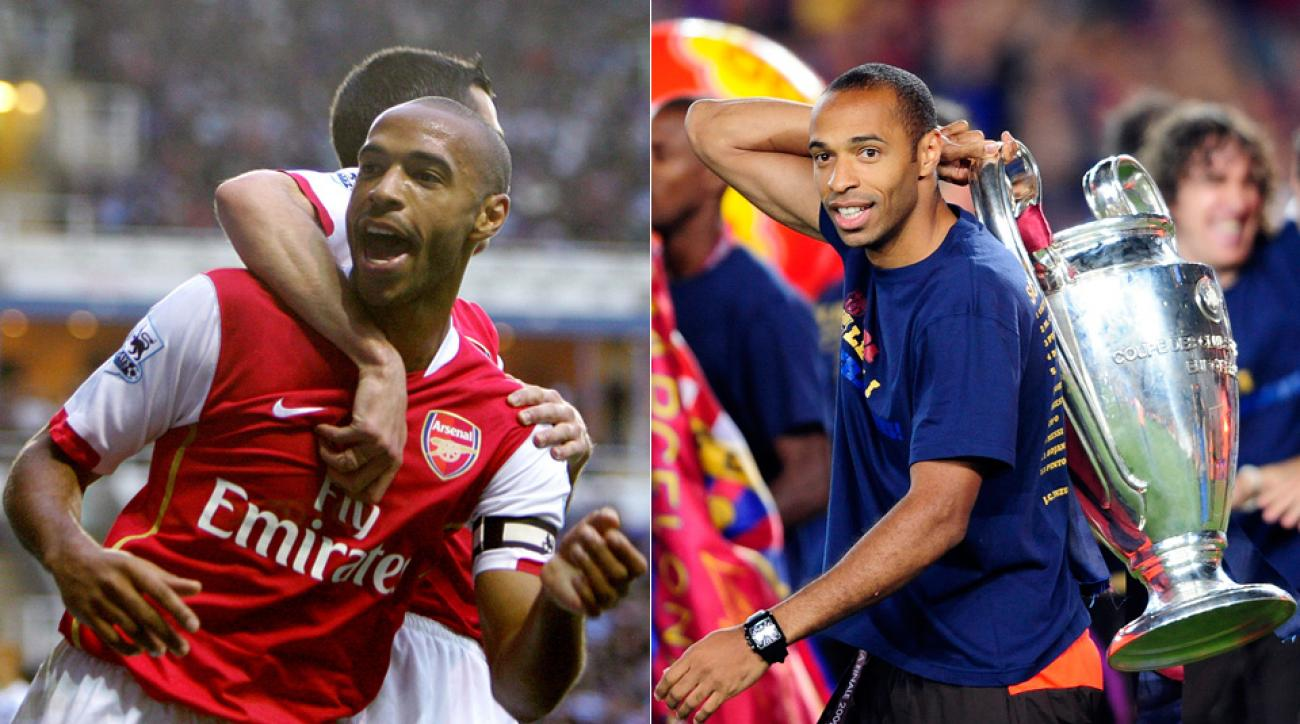 Thierry Henry starred for both Arsenal and Barcelona