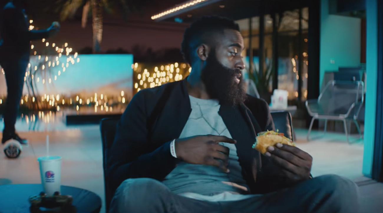 james harden neymar super bowl commercial taco bell video
