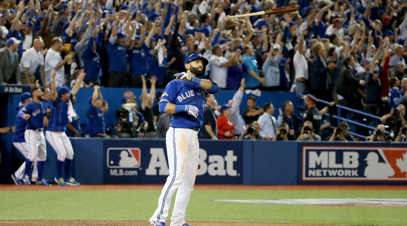 jose bautista free drinks meal bat flip blue jays