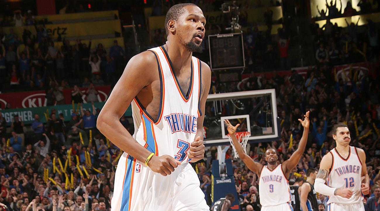 Kevin Durant game-winner video Oklahoma City Thunder Orlando Magic