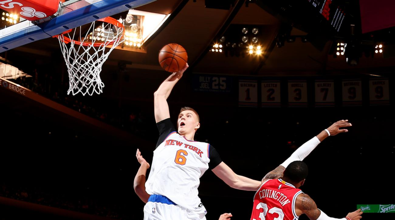 kristaps porzingis highlights video knicks sixers