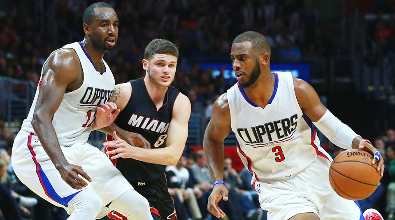 Clippers beat Heat without Jordan, Griffin; win streak at ... Chris Paul Heat