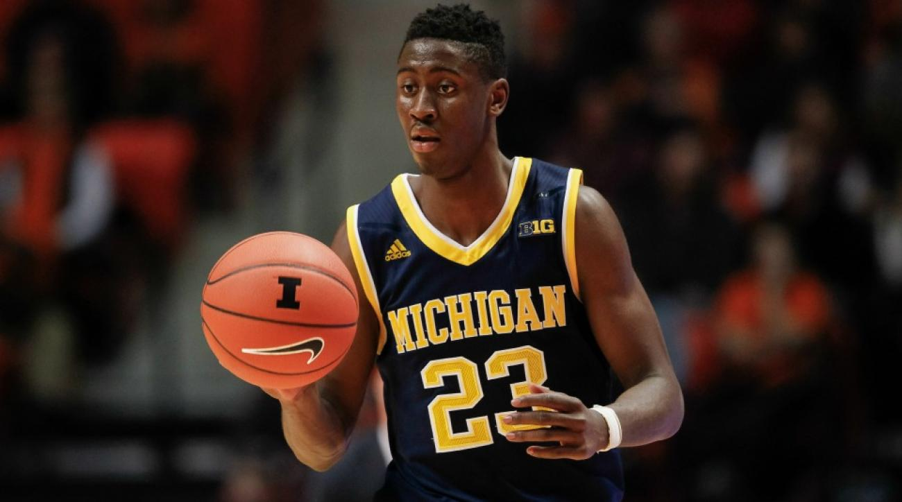 Michigan's Caris Levert return from an ankle injury against Purdue