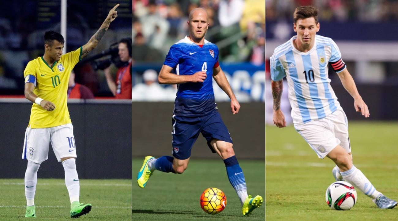 Neymar, Michael Bradley and Lionel Messi are slated to star in Copa America Centenario