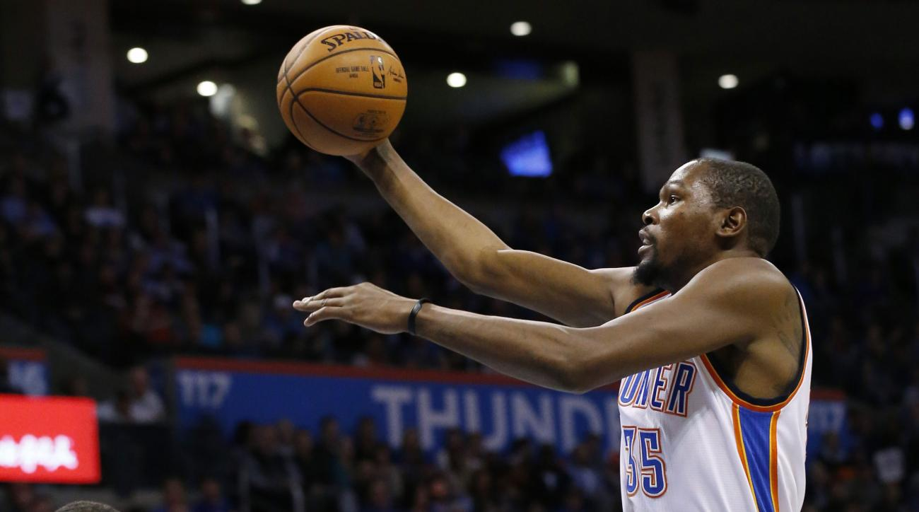 oklahoma city thunder kevin durant media comments playoff contenders