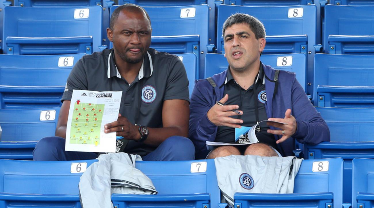 NYCFC's braintrust Patrick Vieira and Claudio Reyna