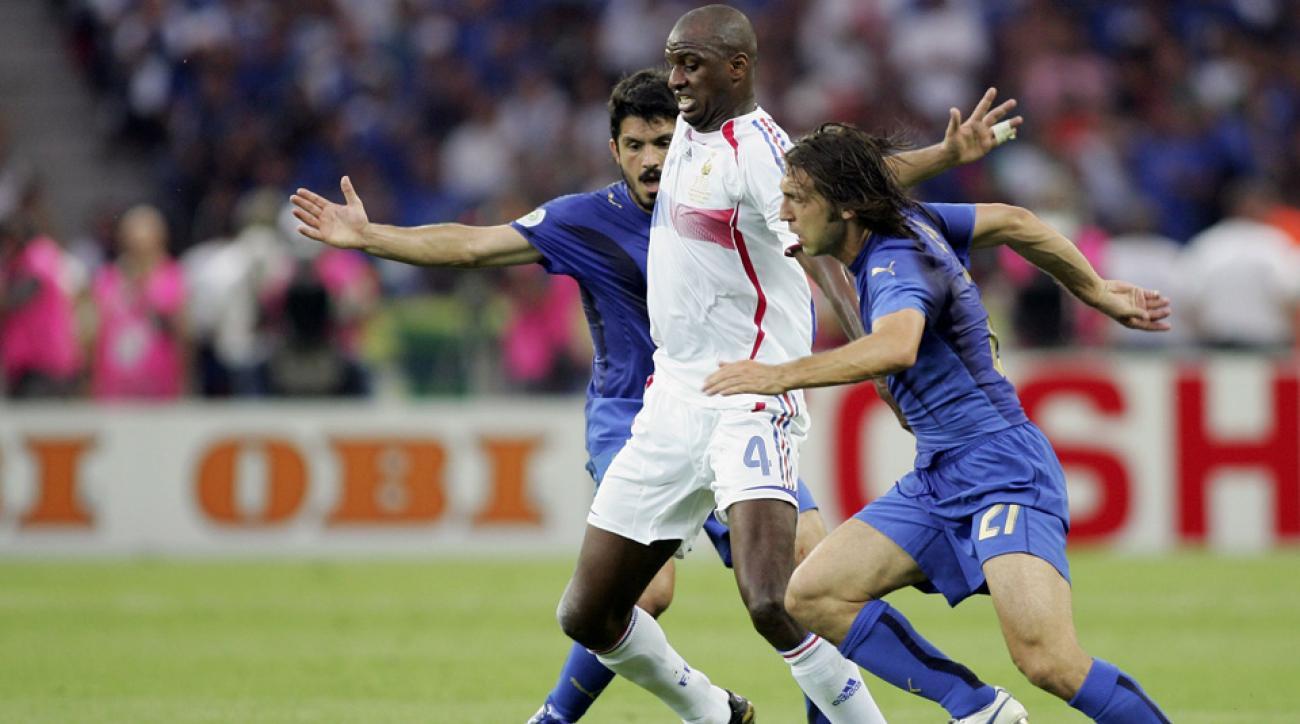 Andrea Pirlo vs. Patrick Vieira in the 2006 World Cup final