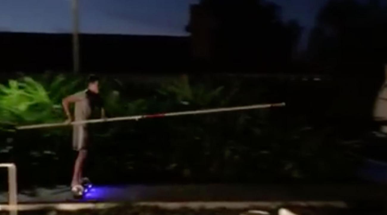 pole vault hoverboard swedish teen