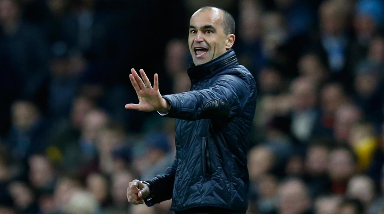 Roberto Martinez showed off his dance moves at a Jason Derulo concert