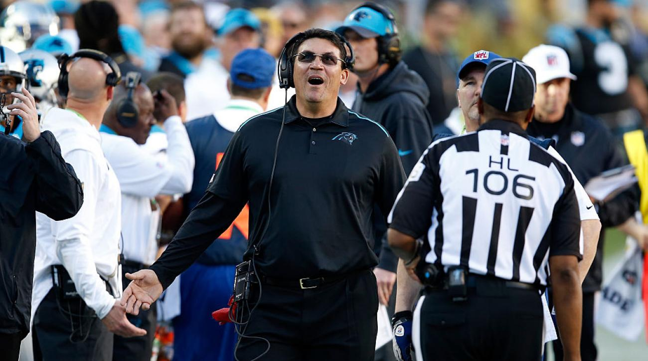 ron rivera panthers out of challenges