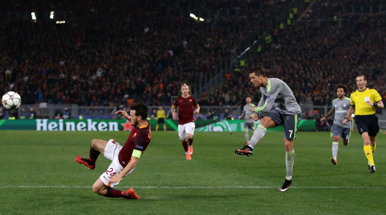 Cristiano Ronaldo scores a golazo for Real Madrid vs Roma in Champions League