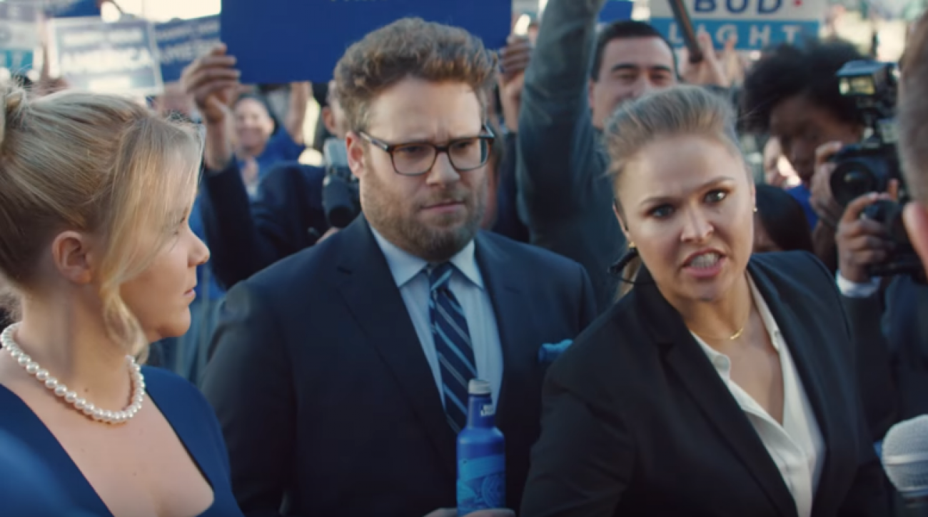 ronda rousey bud light super bowl commercial video