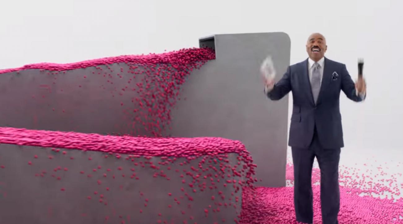 steve harvey t mobile super bowl commercial video
