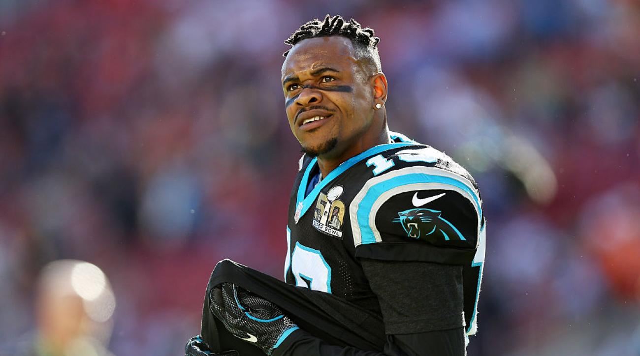 ted ginn jr catch panthers broncos