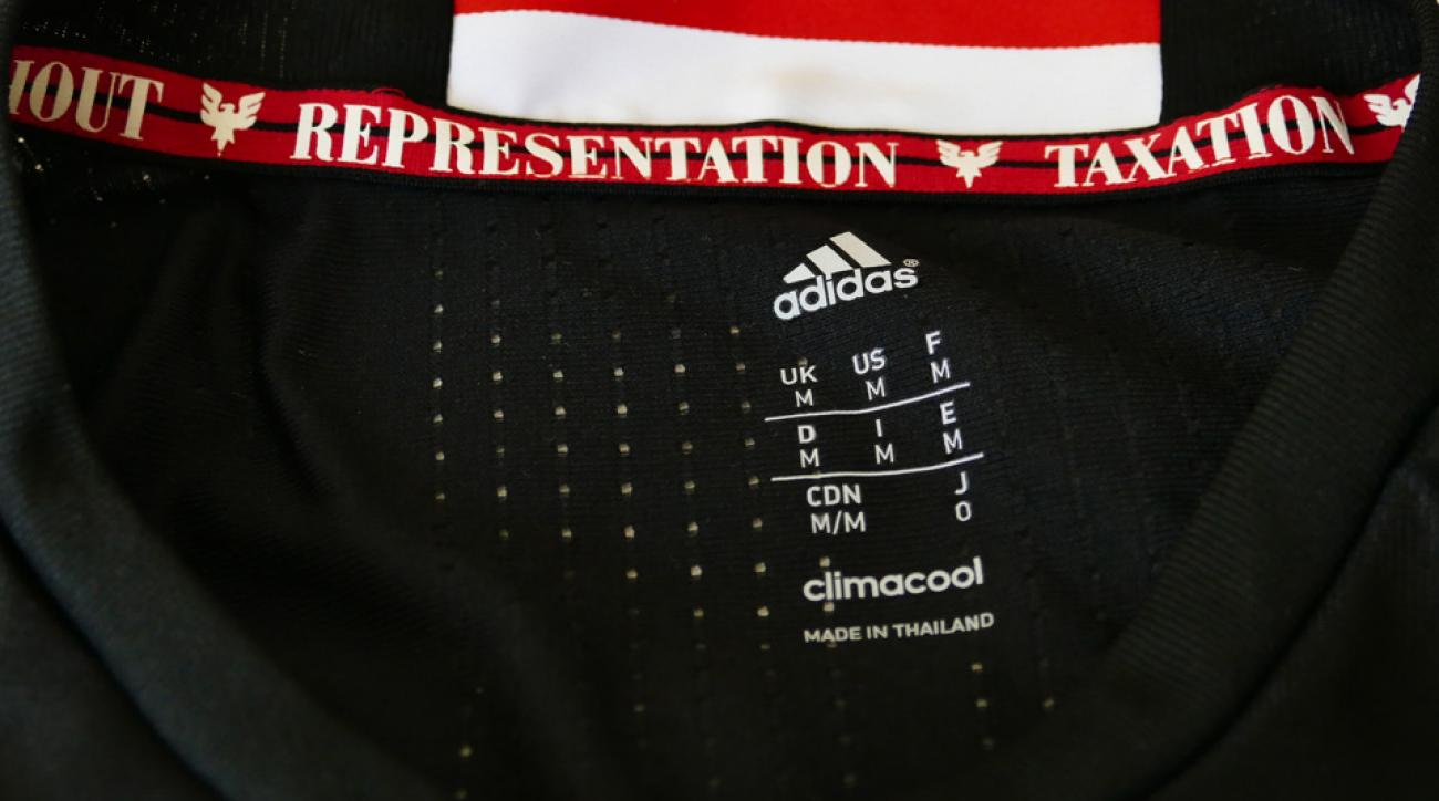 D.C. United's jersey has a mistake on the inside of the neck