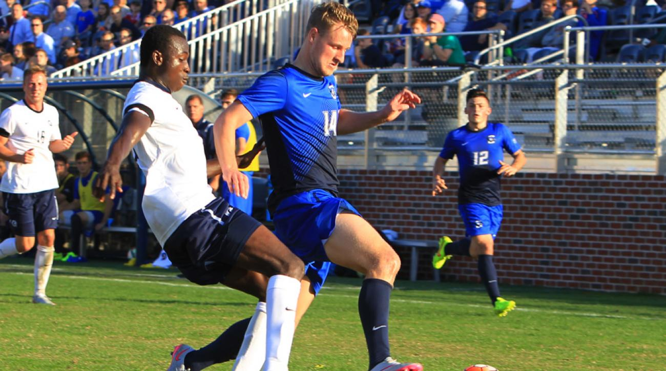 Georgetown's Joshua Yaro, left, and Creighton's Fabian Herbers are two of the top talents available in the 2016 MLS SuperDraft