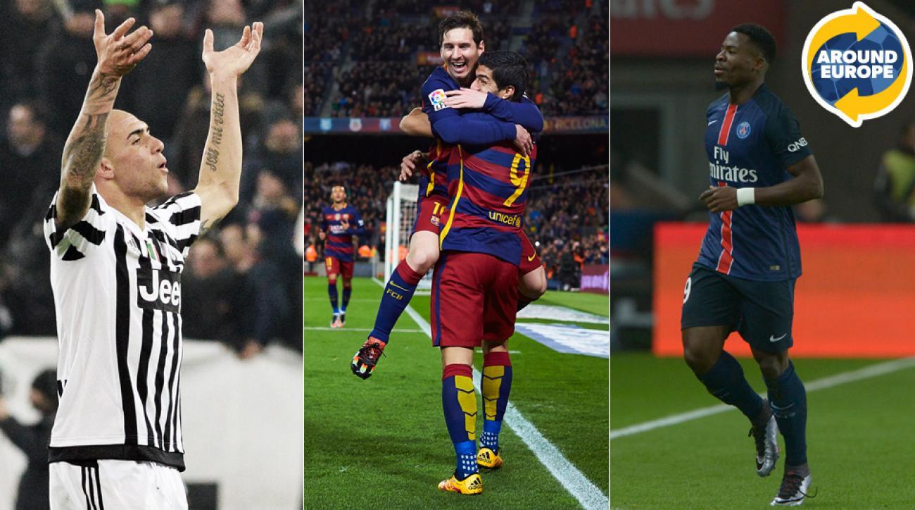 Simone Zaza, Lionel Messi, Luis Suarez and Serge Aurier made headlines Around Europe.