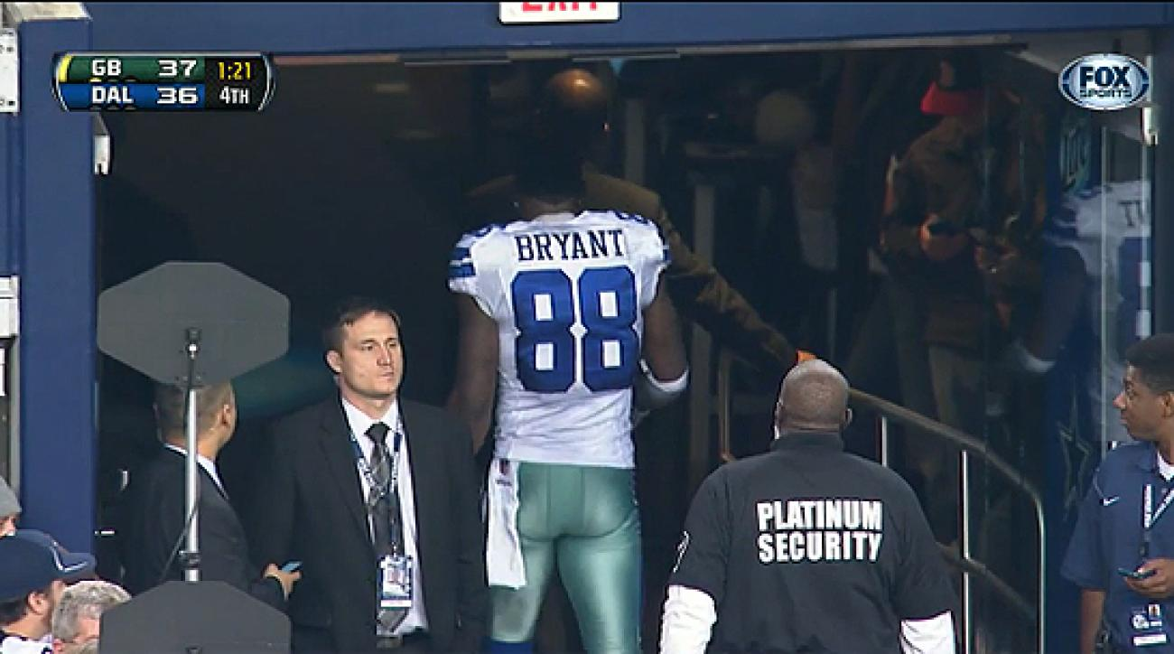 designer fashion 36119 4f42d Dez Bryant walks off the field with 1:21 remaining in ...