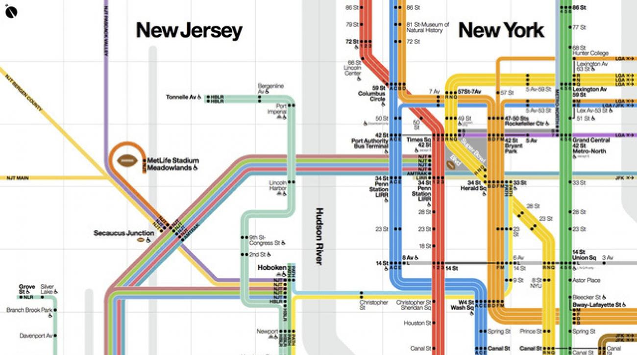 Updated Subway Map.Updated New York Subway Map Debuts For Super Bowl Tourists Si Com