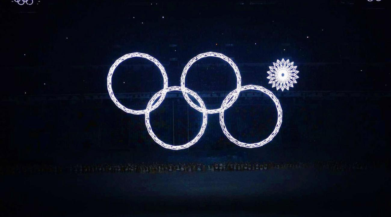 Inside the stadium and outside, Sochi spared no expense to display a dazzling array of light.
