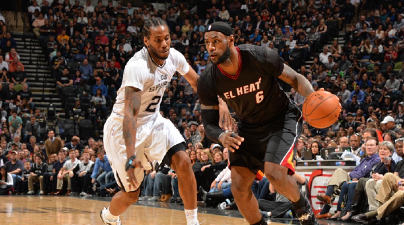 the best attitude 3498e 0dfc4 Heat's LeBron James 'not a big fan' of sleeved jerseys after ...