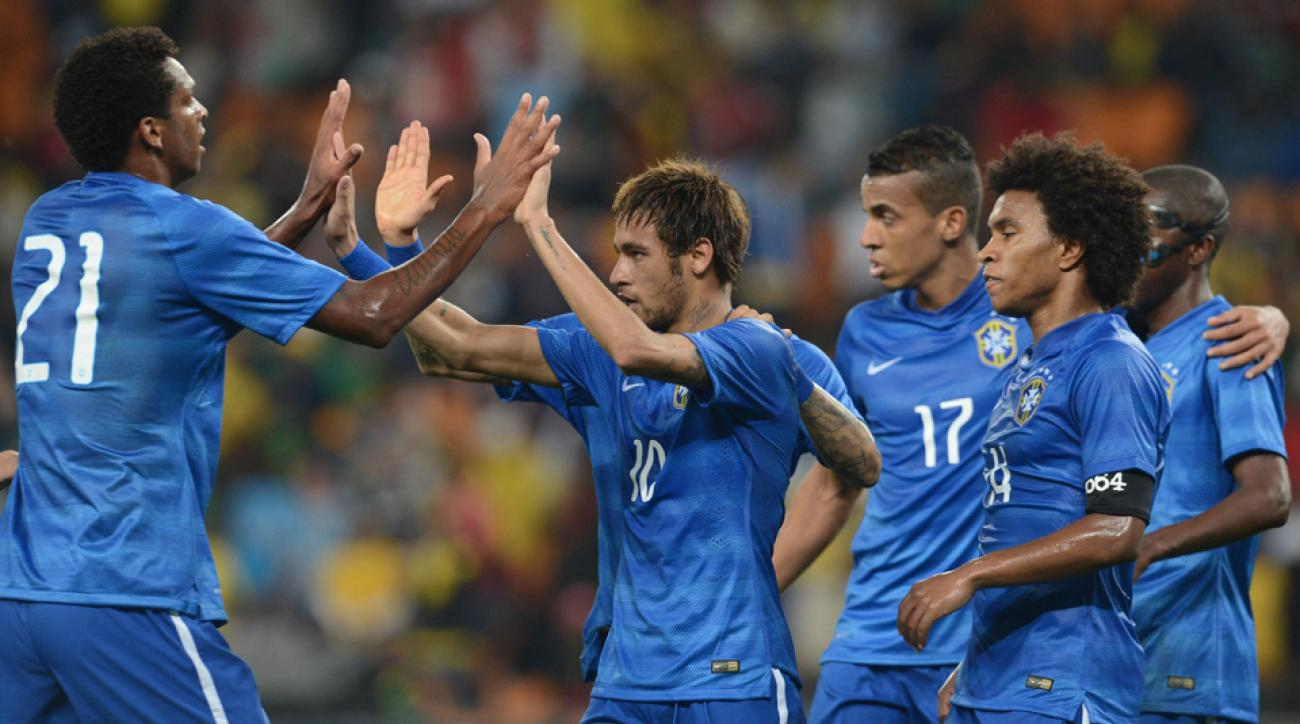 Neymar (10) will be looked upon to lead host Brazil as it attempts to win a sixth World Cup.