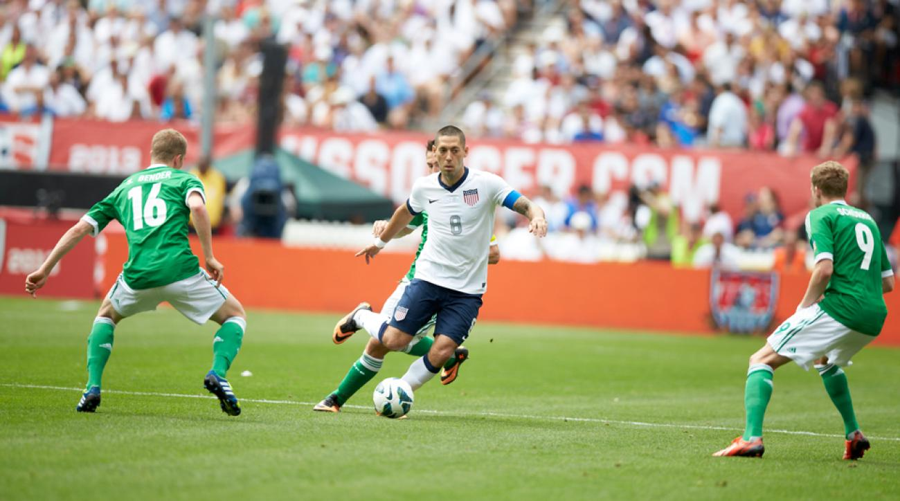 USA captain Clint Dempsey (8) will hope for a similar result against Germany in the World Cup than what the Americans achieved last summer in a 4-3 friendly win.