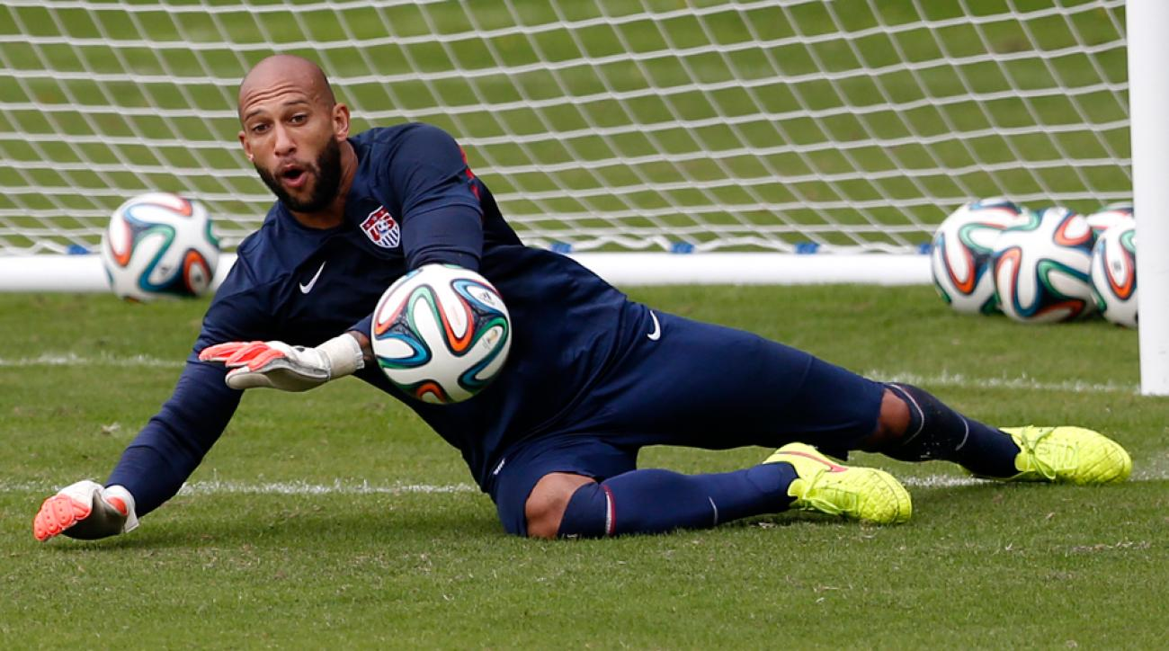 U.S. goalkeeper Tim Howard was in net when Ghana topped the USA in South Africa in 2010, and he'll be out for a different result in Monday's World Cup opener.