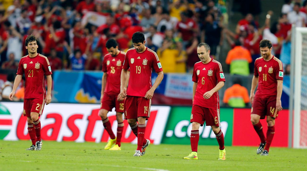 Body language says it all, with a dejected Spanish national team coming to grips with its first elimination from a World Cup or European Championship since 2006.