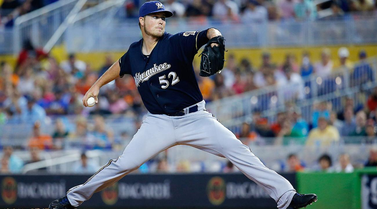 Jimmy Nelson made a spot start for Milwaukee on May 25, holding Miami to five hits in 5 2/3 innings.