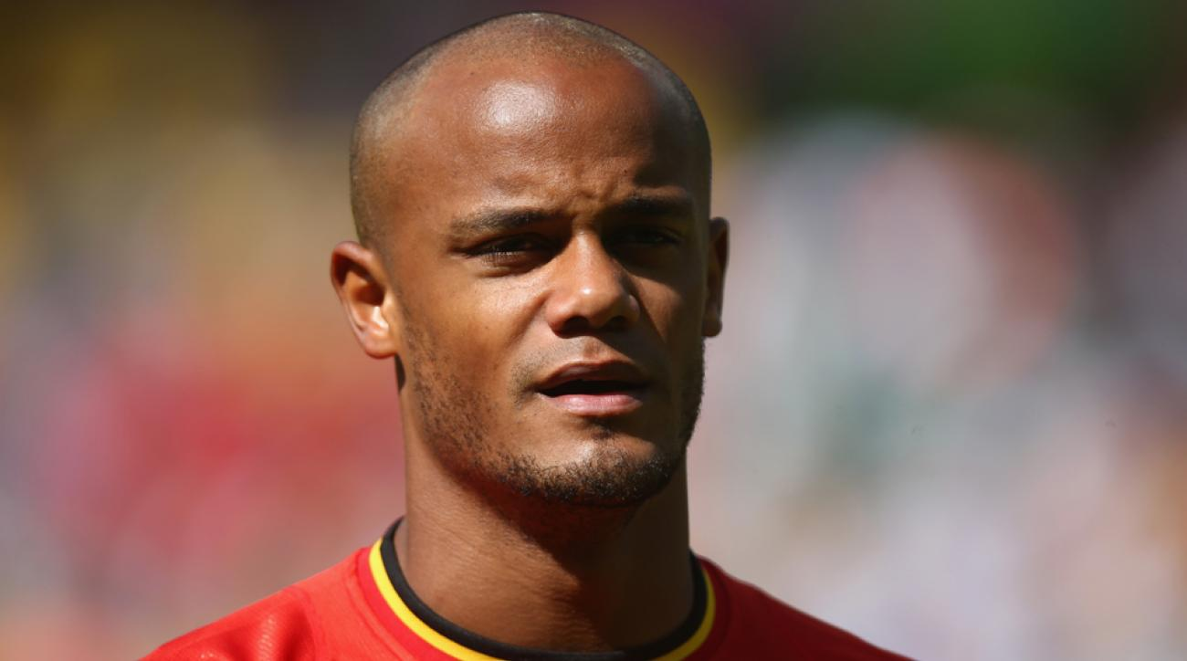 Belgium captain Vincent Kompany is an injury doubt for the Red Devils' clash with Russia with a strained groin.