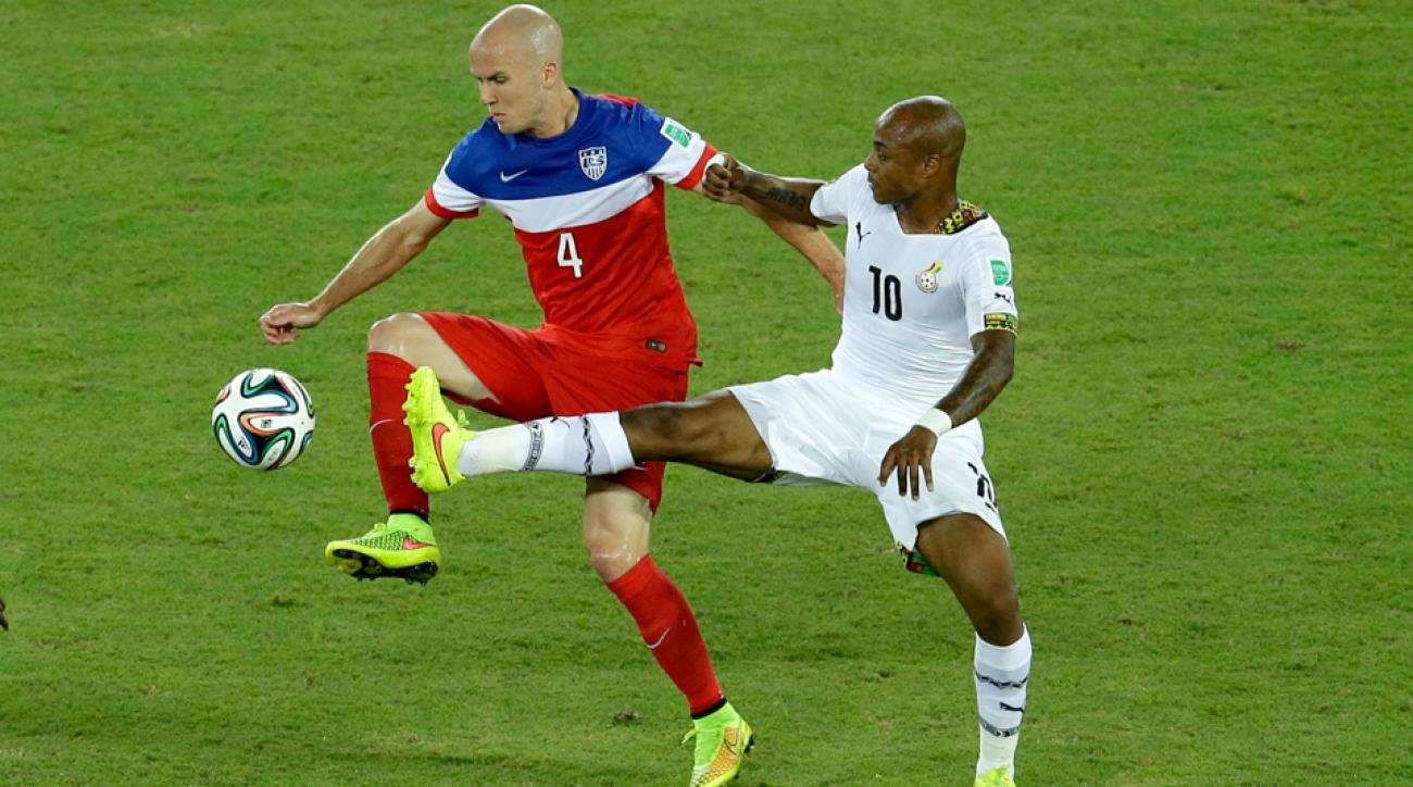Michael Bradley (4) admits he has room for improvement after a sub-standard performance against Ghana in the USA's 2-1 win on Monday.