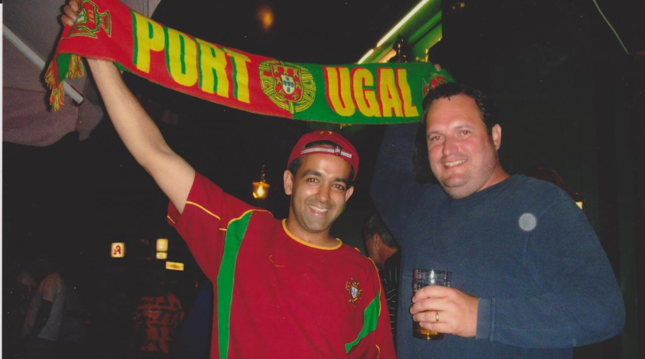Matt Kenemer and Portuguese supporter Tupac ran into each other at the 2006 World Cup in Germany, four years after they first met in South Korea in 2002.