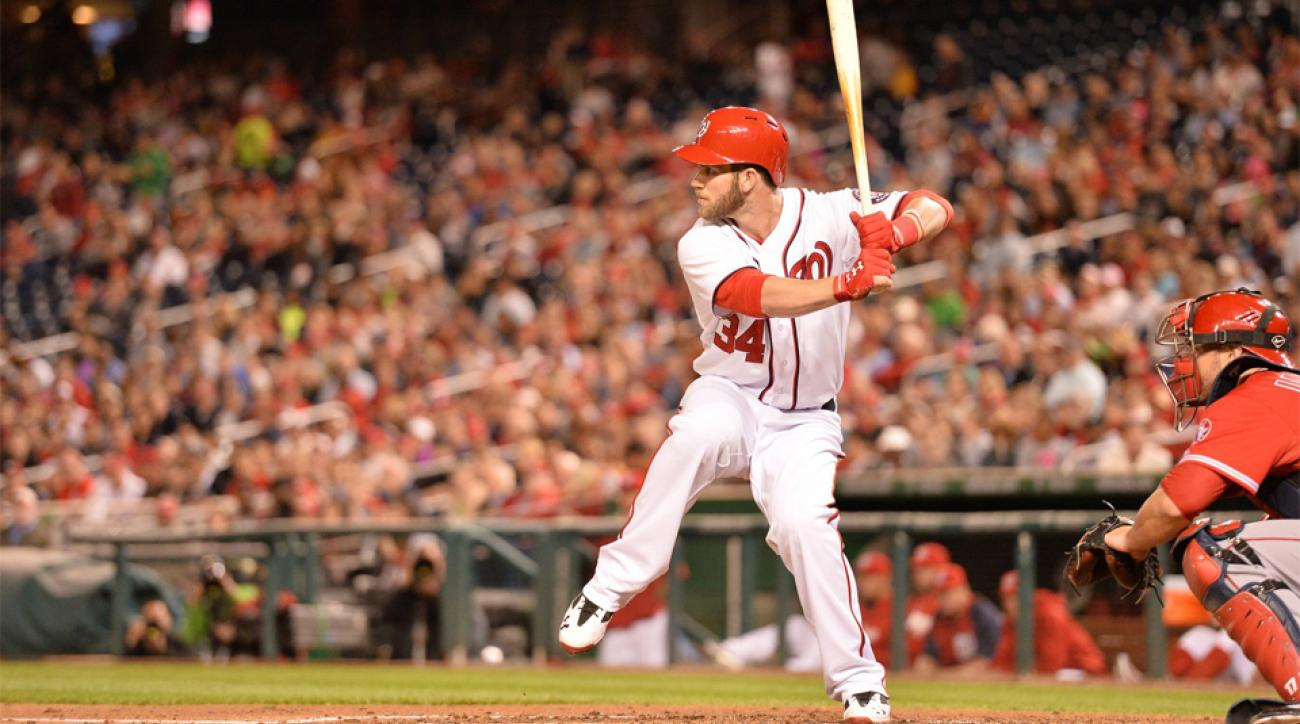 Bryce Harper was hitting .289 with one home run and nine RBI before going on the disabled list.