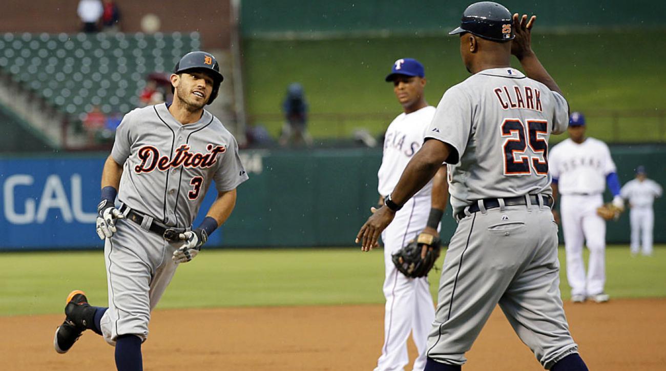Ian Kinsler Detroit Tigers home run vs. Texas Rangers
