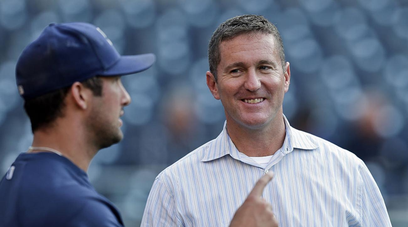Josh Byrnes brought in several key pitchers, like closer Huston Street, but it wasn't enough to save his job leading the Padres, who are in fourth place in the NL West.