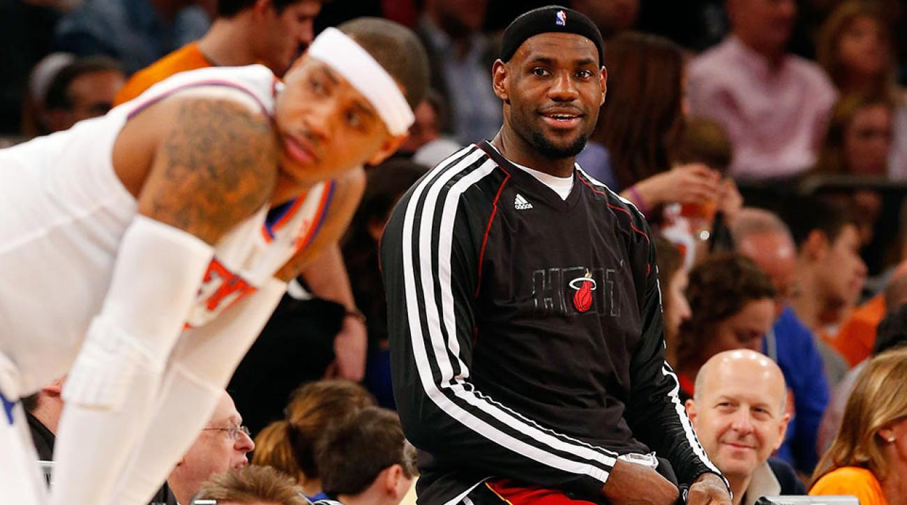Will LeBron James follow good friend Carmelo Anthony in free agency?