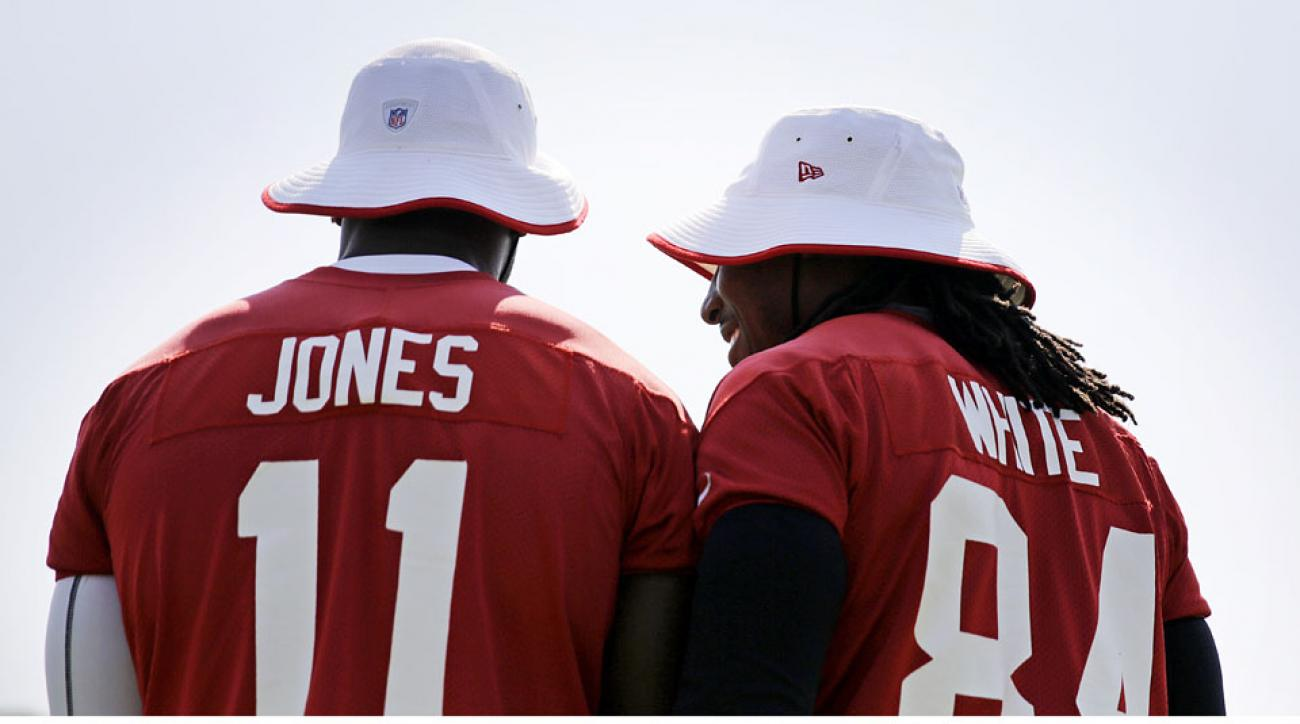 Falcons receivers Julio Jones and Roddy White combined for 1,291 yards and five touchdowns last season.