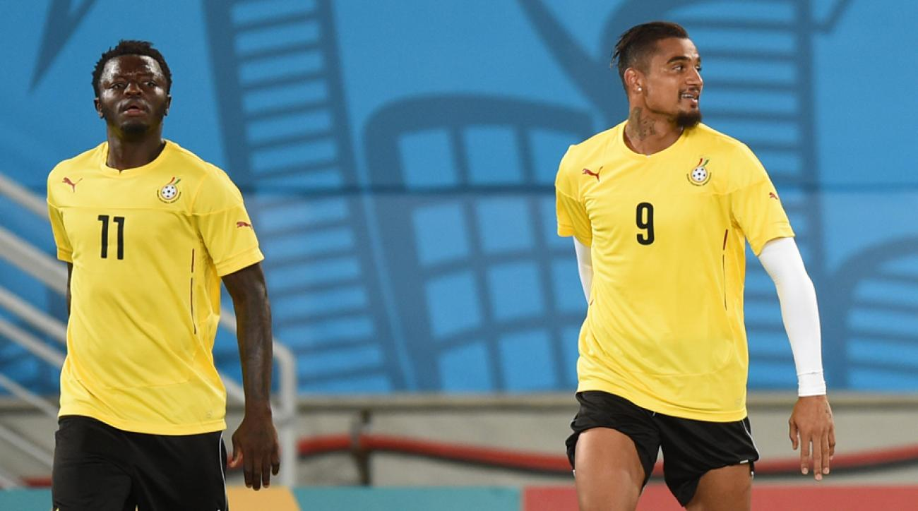 Kevin-Prince Boateng, right, and Sulley Muntari were kicked off Ghana's World Cup team on the day of the Group G finale vs. Portugal.