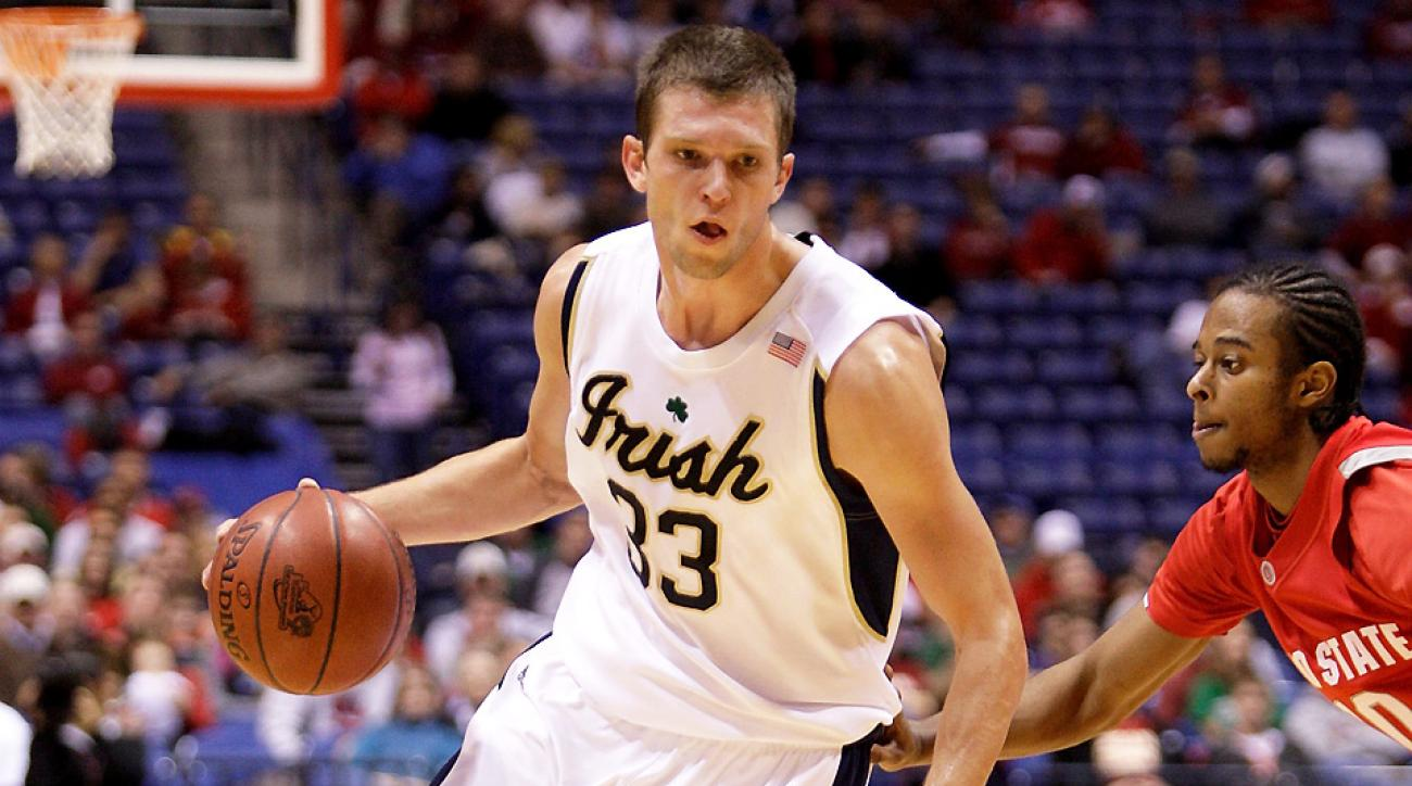 Zach Hillesland, a four-year forward for the Irish, scored 548 points and snagged 496 rebounds during his collegiate career.