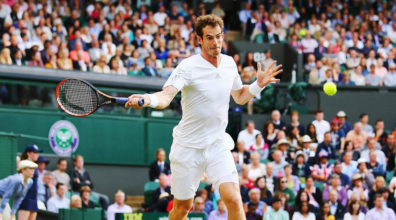 Andy Murray advanced to the fourth round at Wimbledon for the eighth time in nine years.