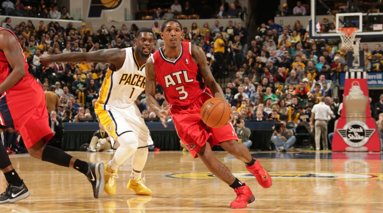 Lou Williams (center) is reportedly heading to Toronto after two years in Atlanta.