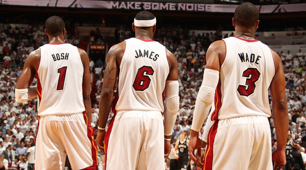 Chris Bosh, LeBron James, Dwyane Wade